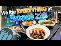 Eating EVERYTHING at Disney World's NEW Space 220 Restaurant