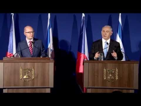 PM Netanyahu meets Czech PM Bohuslav Sobotka
