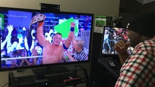 John Cena WINS WWE Title WWE Royal Rumble 2017 REACTION