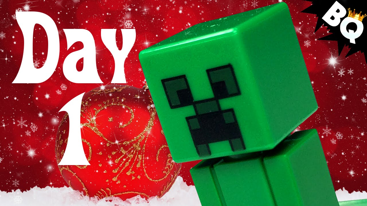 custom lego minecraft advent calendar day 1 unboxing youtube. Black Bedroom Furniture Sets. Home Design Ideas