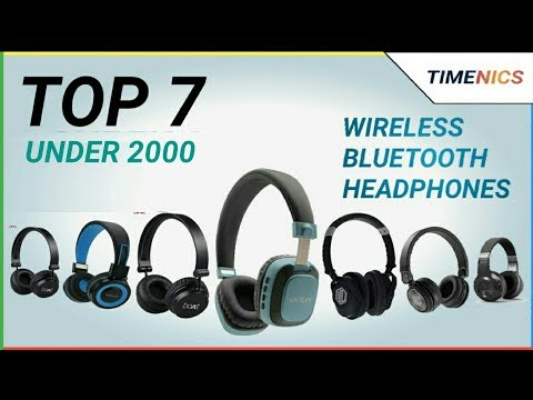 Top 7 Best Wireless Bluetooth Headphones Under 2000 In India 2019 Youtube