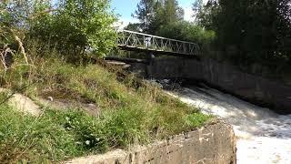 Плотина на реке Охта в 4К