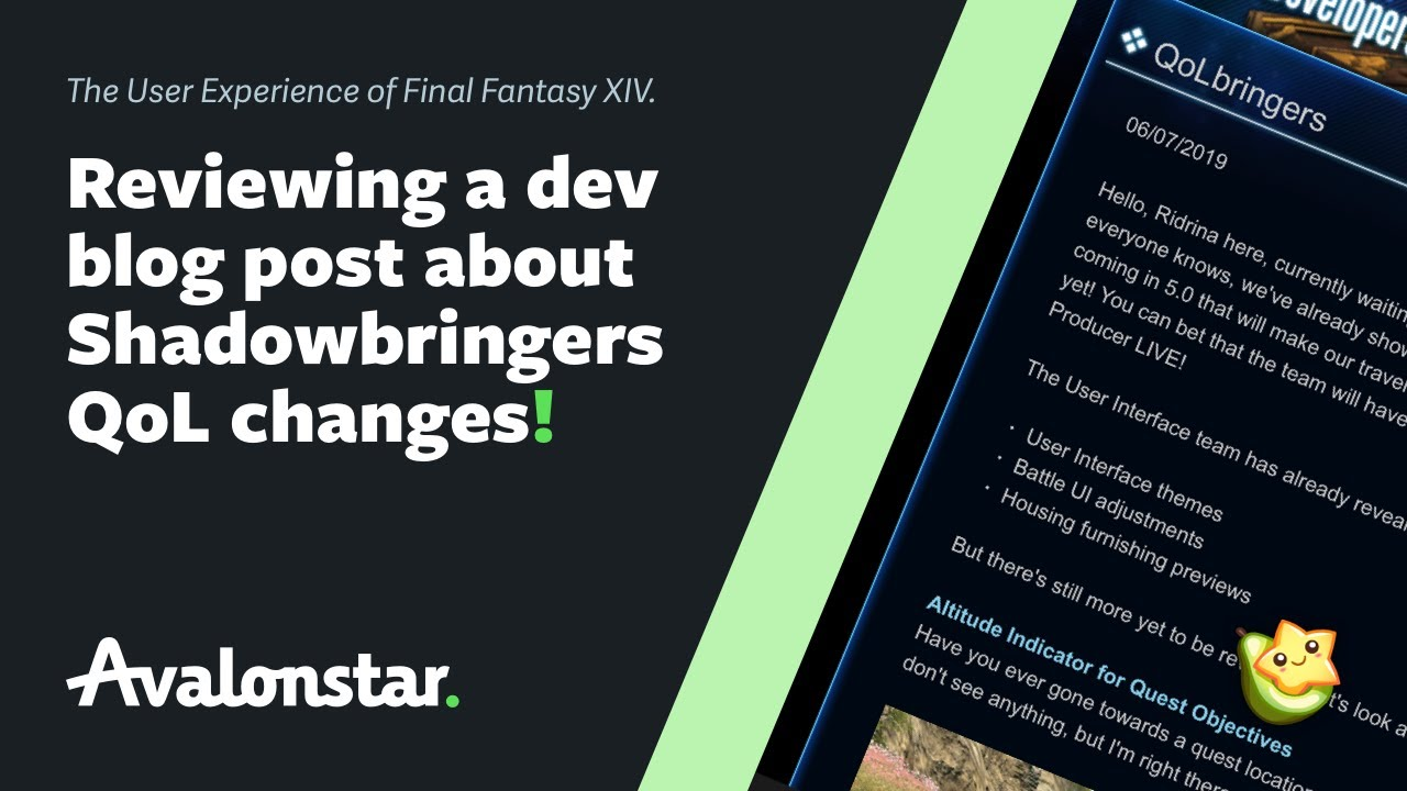 Final Fantasy XIV Shadowbringers: The Devs Posted About QoL Changes!