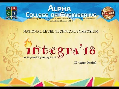 Alpha College Of Engineering | INTEGRA'18 | A Common Symposium 2018