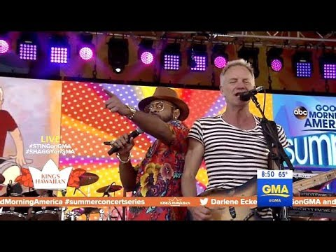 "Shaggy With Sting - Performs ""Angel""(GMA Concert)"