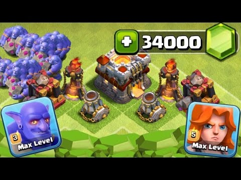 Clash of Clans – GEMMING NEW MARCH UPDATE! 34000 GEMS UNLOCKING BOWLER! (CoC Gemming Bowler Update)