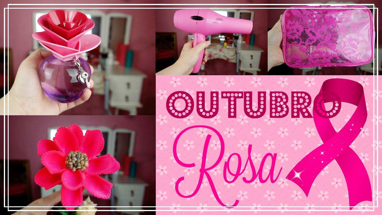 Outubro Rosa ( Conscientizaç u00e3o contra o c u00e2ncer de mama ) YouTube -> Decoração Outubro Rosa Simples