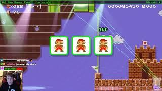 Super Mario Maker - Bonus Super Expert run from Twitch stream