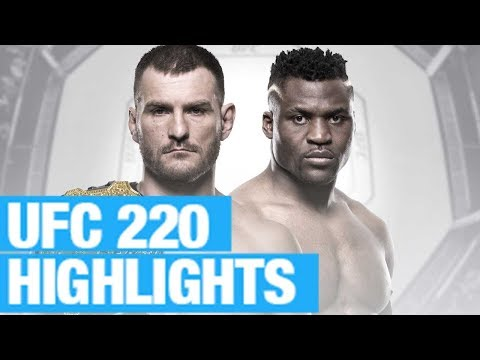 UFC 220 results & highlight video