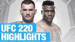 UFC 220 results & highlight video