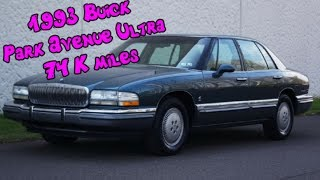 1993 Buick Park Avenue Ultra Supercharged 4 door sedan with leather & ONLY 74K Miles