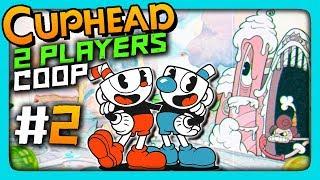 Cuphead 2 PLAYERS CO-OP Прохождение #2 ✅ СПАСИ МОЮ ДУШУ, БРО!