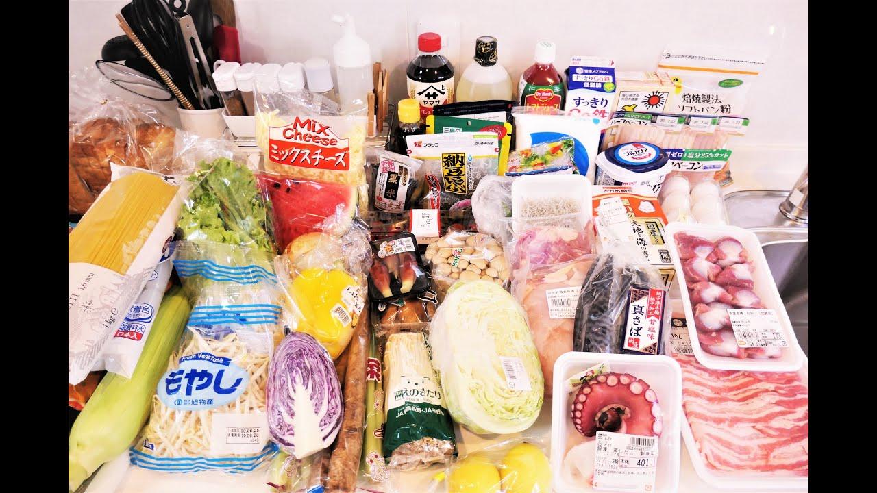『食材買い物からの片付けと下処理』【冷蔵/冷凍】☆4人家族の一週間分の食材をさっさと片づけてみた☆