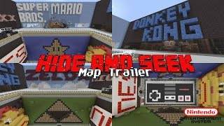 Minecraft Xbox: NES Hide & Seek Map Trailer w/ Download