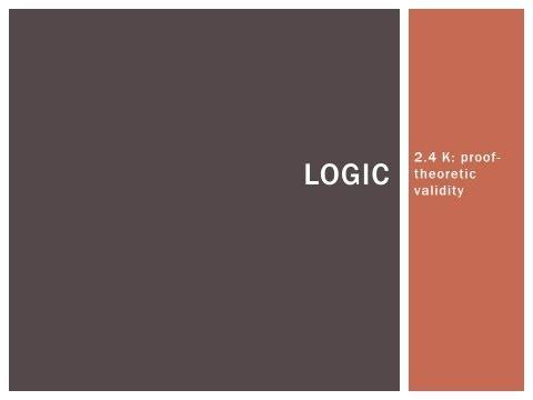 2.4 K  proof theoretic validity
