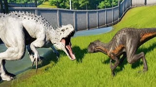 INDORAPTOR Vs INDOMINUS REX - Jurassic World Evolution