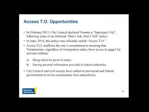 Webinar: Sanctuary Cities: Challenges and Opportunities
