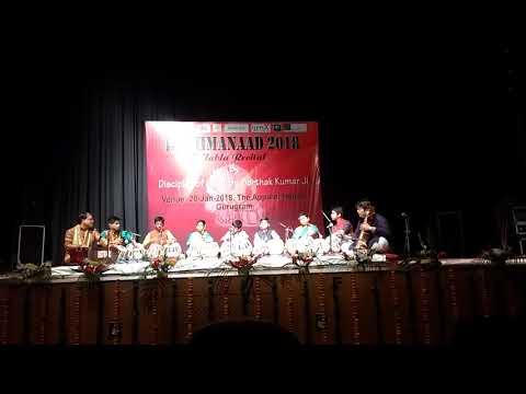 Gaurav , third from right in blue kurta , performing at Epi Centre , Gurgaon on 20th Jan.2017