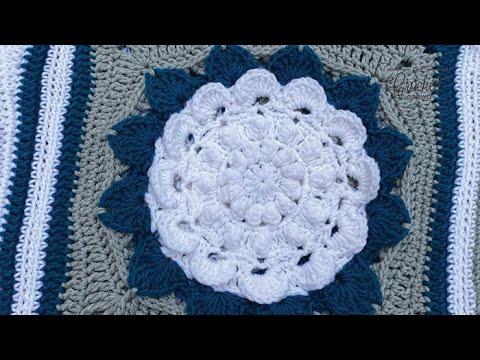 Crochet Flora Afghan: Hydrangea Square