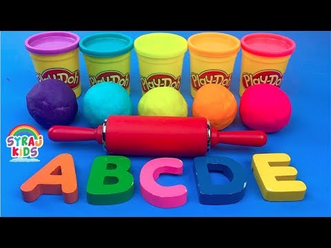 Learn English Alphabet Play Doh Colors Puzzle Letters  | ABC 123 | Syraj Kids