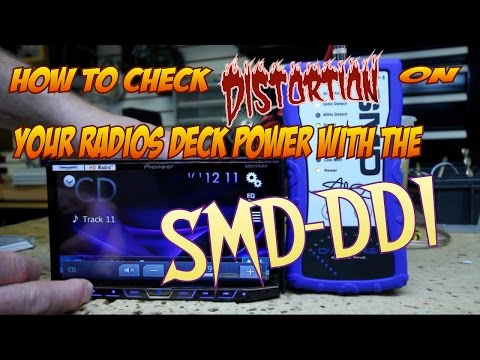 How to check distortion on your radios deck power with the SMD DD1