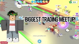 BIGGEST TRADING MEETUP ON ADOPT ME ROBLOX!