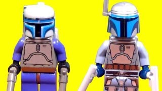LEGO Jango Fett Star Wars Minifigure Comparison