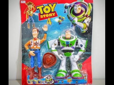 Toy Story 4 - Xerife Woody e Buzz Lightyear - Tamanho 25 cm - Com sons / Review TOP