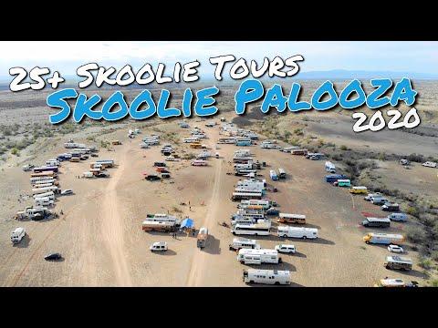 Skoolie TOURS at Skoolie Palooza 2020  **LOOK INSIDE 25 Totally Different School Bus Conversions