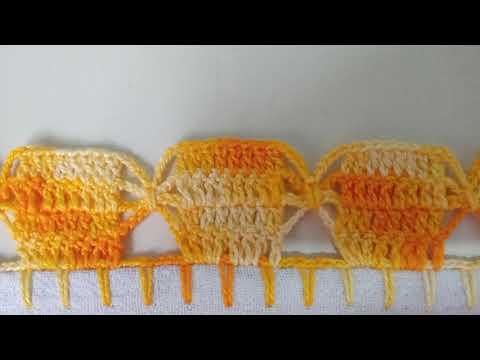 Barrado em crochê simples, fácil e diferente