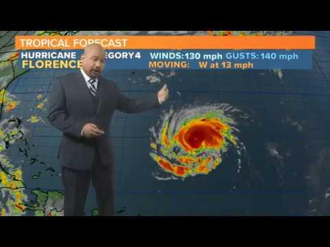 Hurricane Florence Now a Category 4 Hurricane: Latest Forecast 9/10/2018