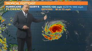 Hurricane Florence Now a Category 4 Hurricane: Latest Forecast 9/10/2018 thumbnail