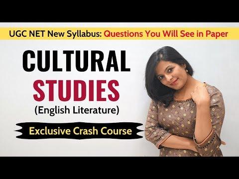 Cultural Studies: Crash Course For UGC NET/JRF English Literature