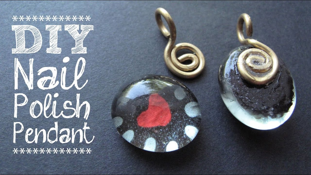 Diy nail polish jewelry painted heart pendant jewelry tutorial diy nail polish jewelry painted heart pendant jewelry tutorial youtube aloadofball