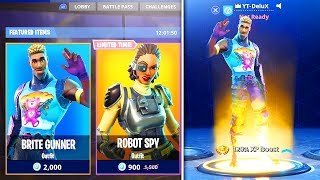 "How To Get NEW SKINS FREE ""Brite Gunner"" + ""Agent Spy"" - Season 4 Items in Fortnite Battle Royale"