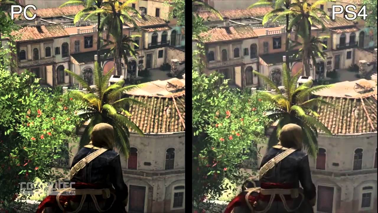 Assassin S Creed 4 Pc Versus Ps4 Graphics Comparison Youtube
