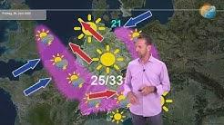 Aktuelle Wettervorhersage 25. Juni 2020: Wetterlage stellt sich um von Omega auf West mit Gewittern.