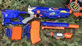 Toy Guns Nerf N Strike LongStrike with Attachments Toy Weapons