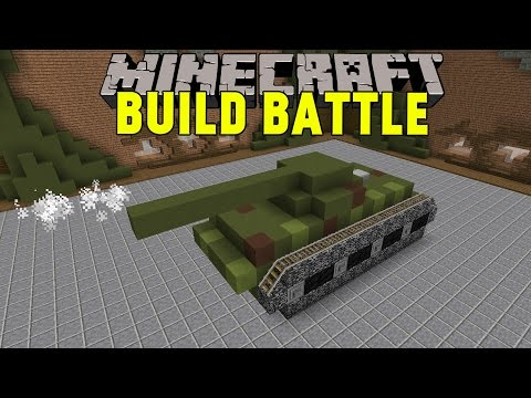 Minecraft | Grym Stridsvagn! | Team Build Battle Minigame på Svenska