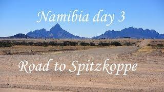 Namibia 4x4 roadtrip day 3 road to Spitzkoppe Campsite Namibia