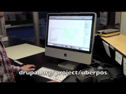 UberPOS Demo of hardware, adding a product, and checkout process