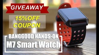 #GIVEAWAY LYNWO M7 Plus Smart watch review or smart band for daily life