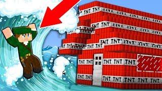 CASA DE TNT CONTRA TSUNAMI! CASA DE TNT 100% PROTEGIDA NO MINECRAFT!!