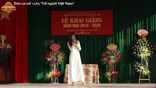 """Tiếng hát nữ sinh 12A3│Tôi người Việt Nam│Solo song """"I am Vietnamese"""" by female student 12A3"""