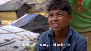 Rohingya boy tell his story in Bangladesh