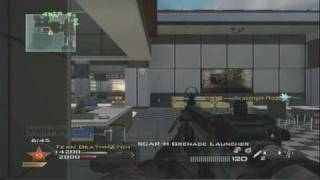 Modern Warfare 2 Gameplay - Team Deathmatch with Commentary - Scar-H w/ Grenade Launcher