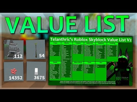 Roblox Skyblock Value List Trading Guide Get Money Fast