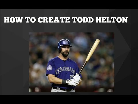 MLB The Show 16 | How to create an ACCURATE Todd Helton