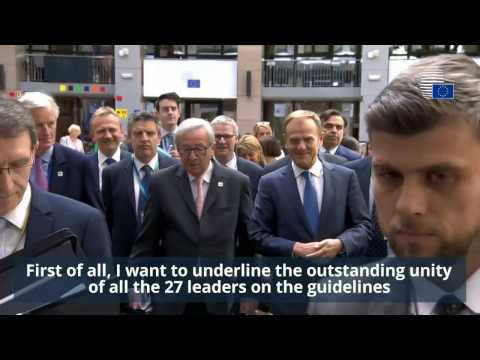 Special European Council on Article 50 - Highlights