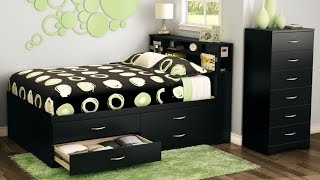 South Shore Step One Collection Full Captain's Bed Give Your Room A Modern And Sophisticated Feel